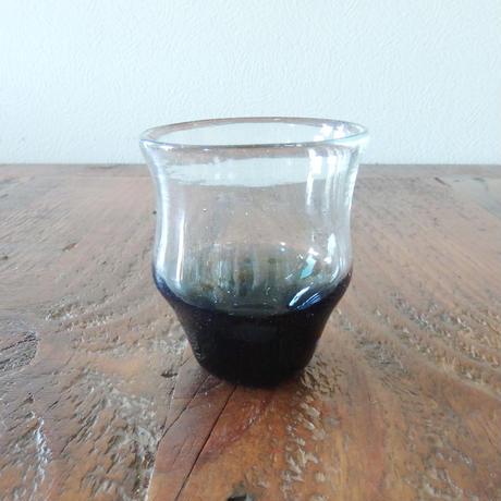 吹きガラス工房 彩砂 くびれグラス紺