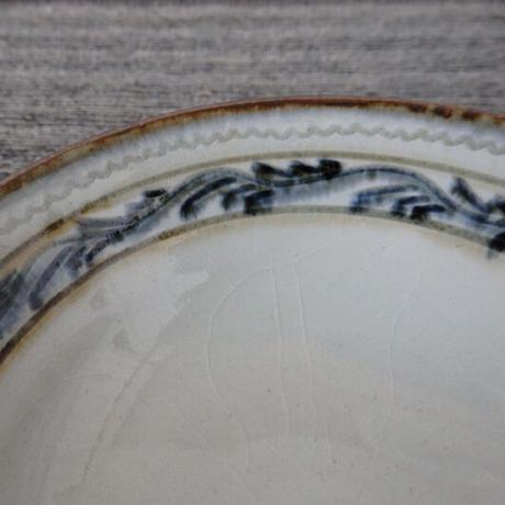袖師窯 彫文鉢 小