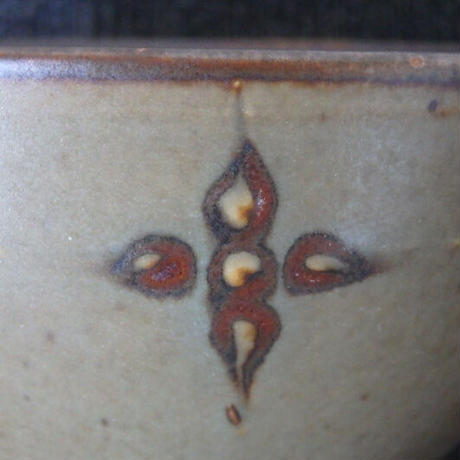 袖師窯 スリップ飯碗