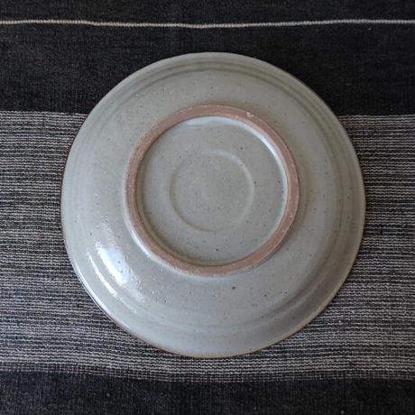 袖師窯 草絵皿7寸皿
