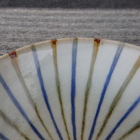 袖師窯 丸型鉢十草 小