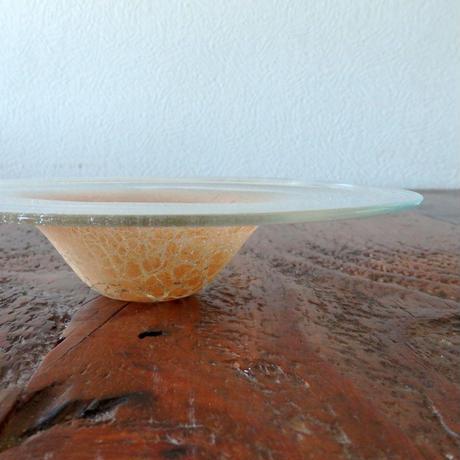 吹きガラス工房 彩砂 桃土円皿