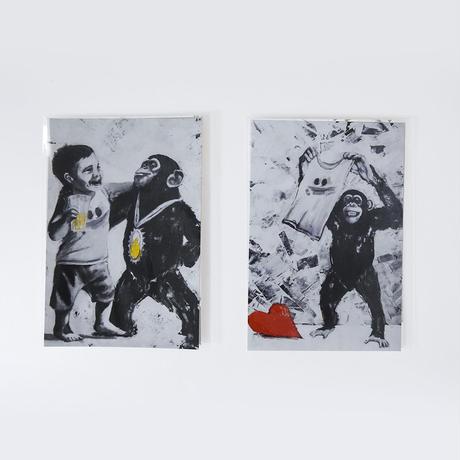 mikimikimikky1016. Post card チンパンジー