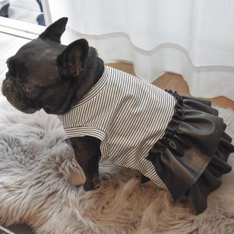 ロック! ウォッシャブルレザースカート付きタンク