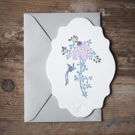 Letterpress Card 花鳥風月 / 雲形