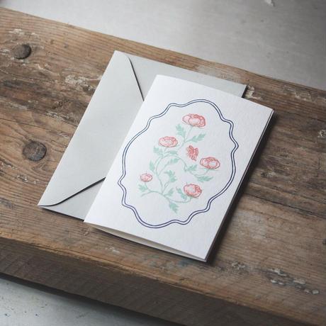 Letterpress Card 花鳥風月 / スクエア型
