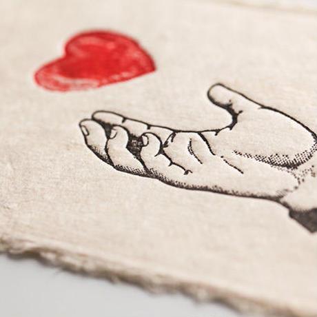 Letter press card 【love】