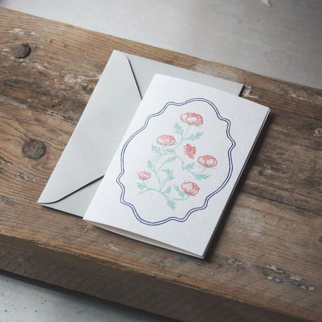 """Letterpress Card """"花鳥風月/蝶 スクエア型 単品<大>"""