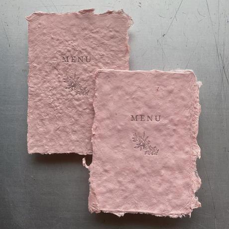 HANDMADE PAPER MENU COVER