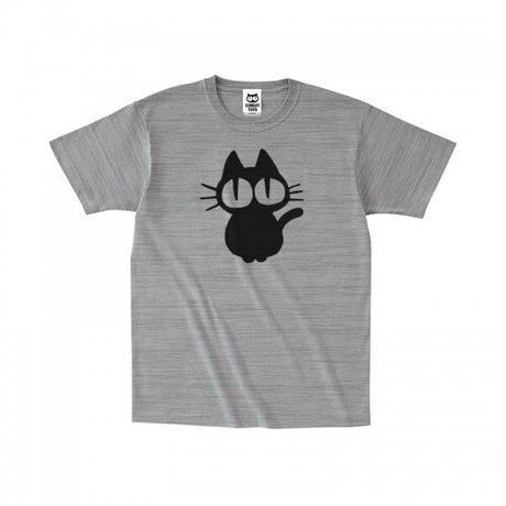 お座り黒猫 Tシャツ[H.GRAY]