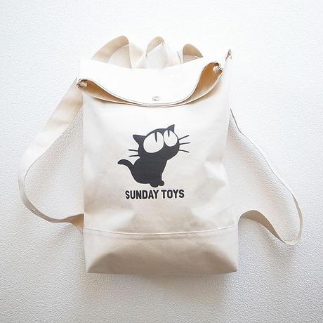 見上げる猫キャンバスリュック [NATURAL] 鎌倉・日本製