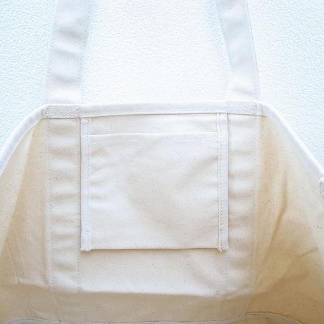 【1点もの】ワッペン付き大きめトートバッグ [ナチュラル]