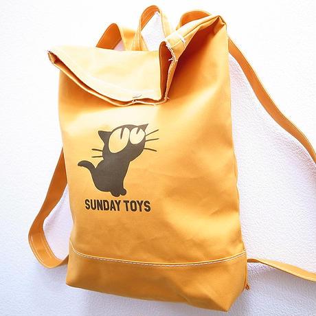 見上げる猫キャンバスリュック [Mustard] 鎌倉・日本製