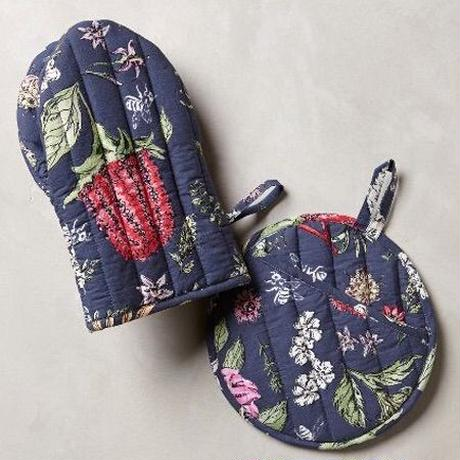 Butterfly Potholder&Ovenmittアンソロポロジーミトン・ポットホルダー2点セット