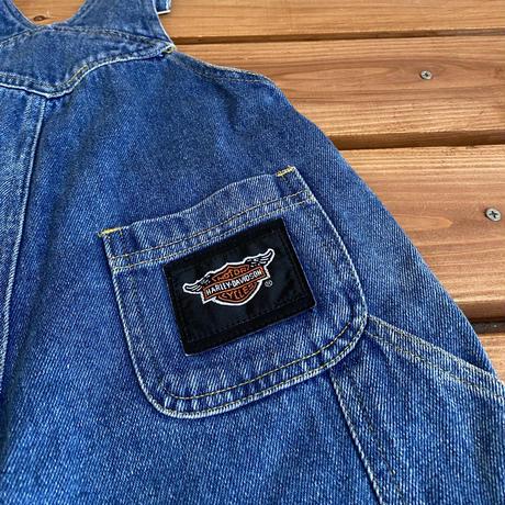 【110cm】Harley Davidson Denim Overalls