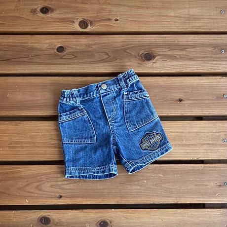 【80cm】Harley Davidson Denim Shorts