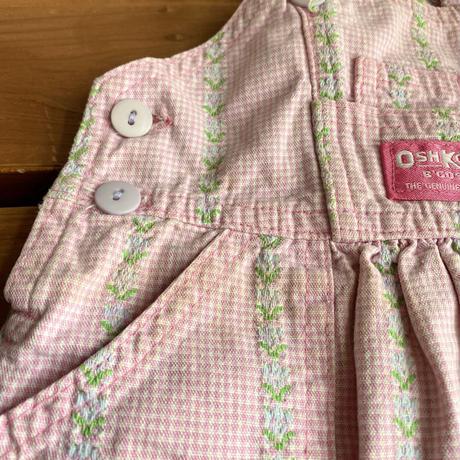 【70cm】USA OSHKOSH floral Overalls