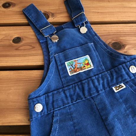 【70cm】Winnie Pooh corduroy Salopette