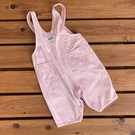 【70cm】OSHKOSH Pink hickory Overalls