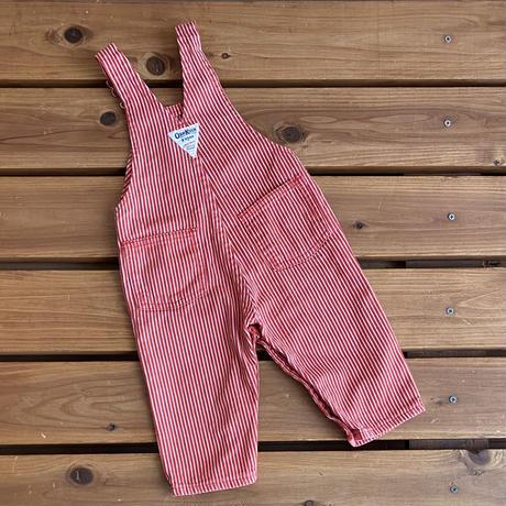 【80cm】USA OSHKOSH Red hickory Overalls