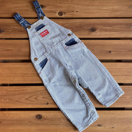 【90cm】USA OSHKOSH Stripe Overalls