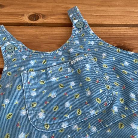 【90cm】OSHKOSH Corduroy floral Dress