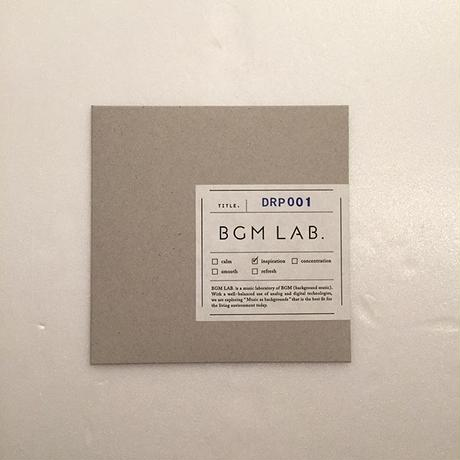 BGM LAB.|「DRP001」(CD)