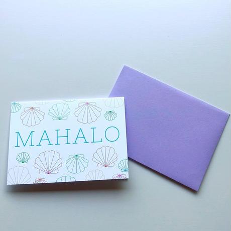 ハワイ マウイ annie + flo シェル MAHALO/マハロ グリーティングカード/メッセージカード