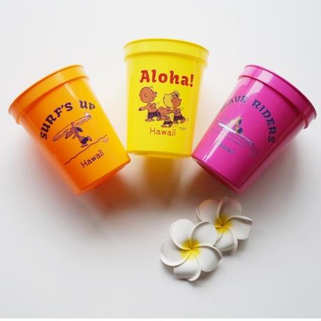 ハワイ 日焼けスヌーピー プラスチックカップ