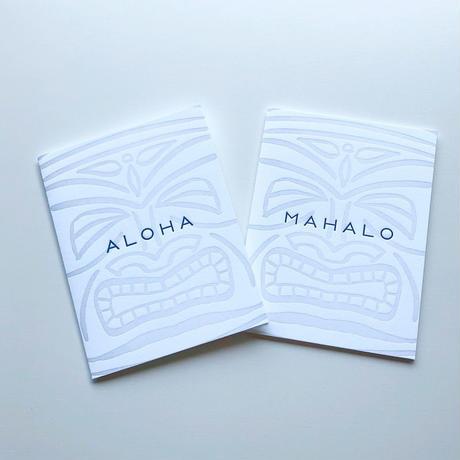 ハワイ BRADLEY & LILY ALOHA/アロハ MAHALO/マハロ ティキ グリーティングカード/メッセージカード
