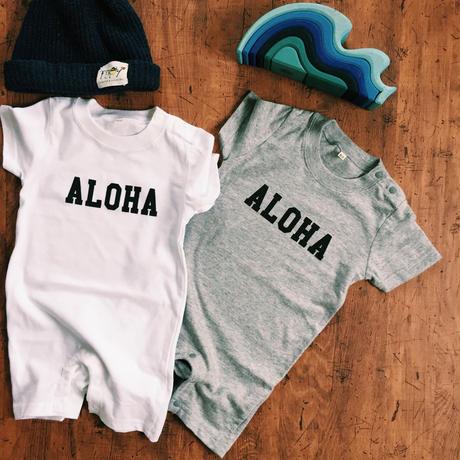 """""""ALOHA"""" rompers  White"""