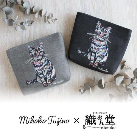 【Mihoko Fujino×織おん堂 コラボ商品】ジャカード織レオくんポーチ