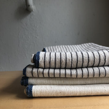 Organic Khadi Pillow Case (Indigo Selvedge / Charcoal Pin Stripe)