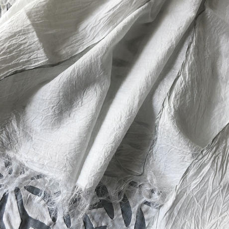 Cotton Silk Khadi Stole (White)