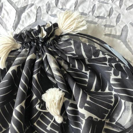 Cotton Silk Drawstring Bag (L)