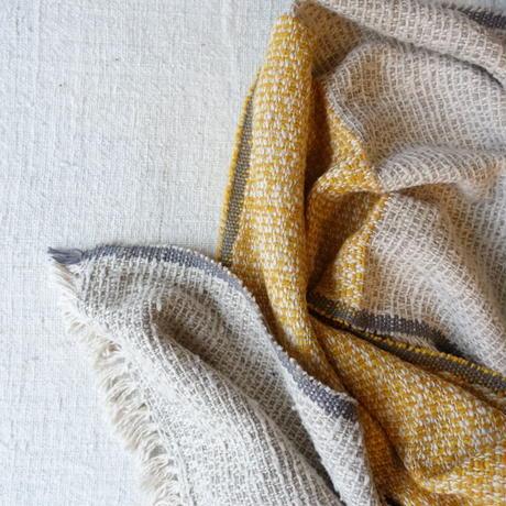 Gara-bou Medium Stole Kabe 50×190cm (Double Face - Sand x Yellow)