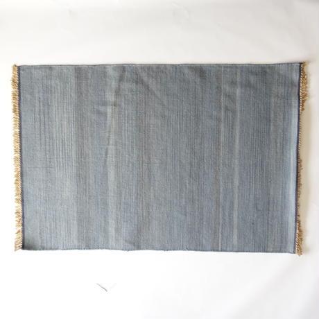 Light Indigo Wool Rug 60x90