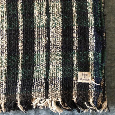 Gara-bou Blanket Stole 1ply 100×190cm (Green check)