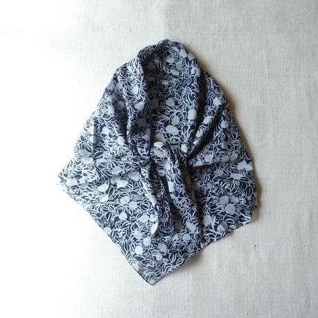 Cotton Silk  Printed Stole S (Blaoga Navy)