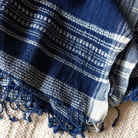 Organic Khadi Basket Throw S 150×150 (Indigo)