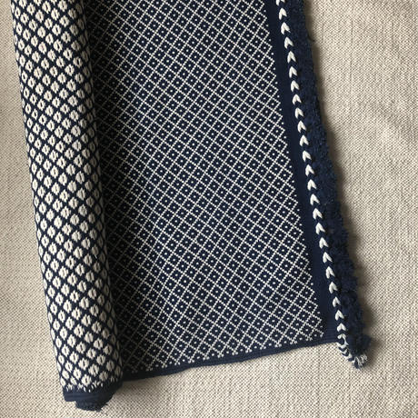 Cotton Nomad Rug 100x140 (Indigo)