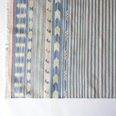 Fine Cotton Indigo Rug 100x140