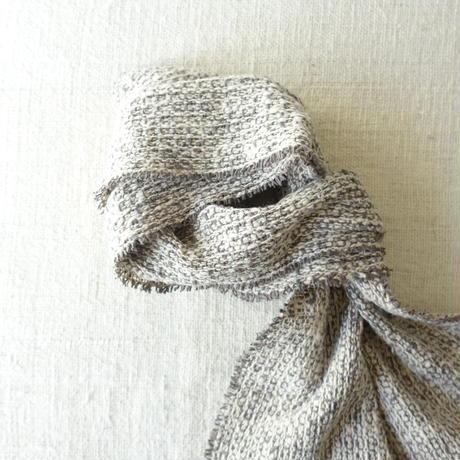 Gara-bou Muffler Stole 1ply 22×190cm (Gray)