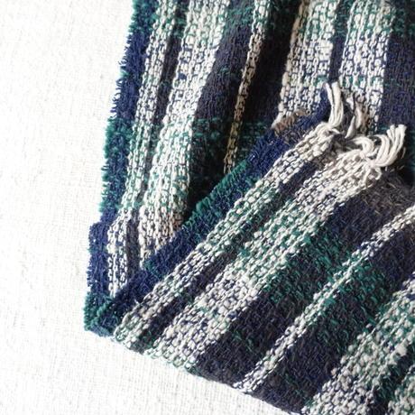 Gara-bou Medium Stole 1ply 50×190cm (Green Check)