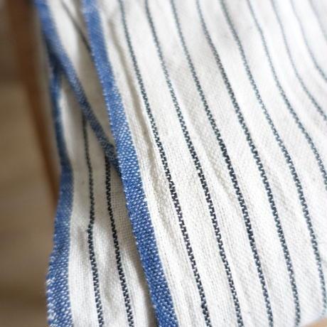 Organic Khadi Sheets (Charcoal Pin Stripe)