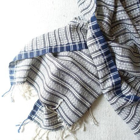 Organic Khadi Basket Bath Towel (Dark Jacquard)