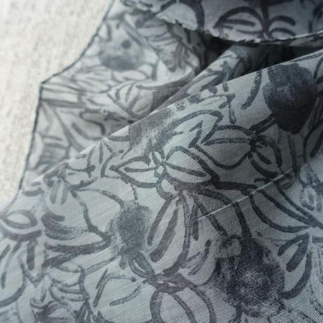 Cotton Silk  Printed Stole L (Blaoga Gray)