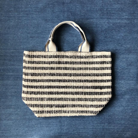 Gara-bou × Canvas Medium Tote (Charcoal stripe)
