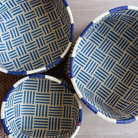 Rettai Olai Basket L (Navy Natural - Blue Rim)
