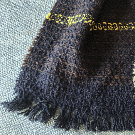 Gara-bou Muffler Stole Kabe 22×190cm (Mix border - Brown)
